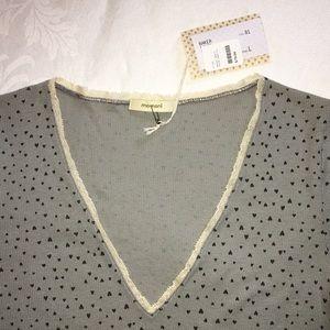 Italian Designer Momoni Tee T-Shirt Top Cotton Lg